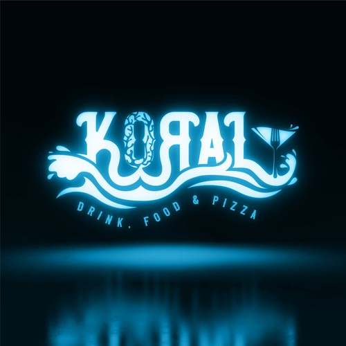 Coral logo with the title 'Koral - Lounge bar'