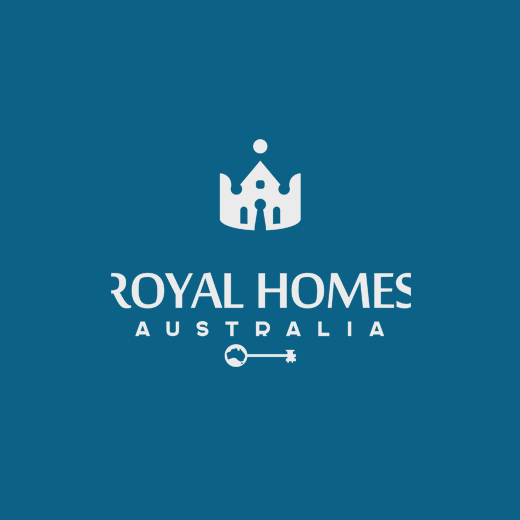 Royal logo with the title 'Logo concept for building company.'