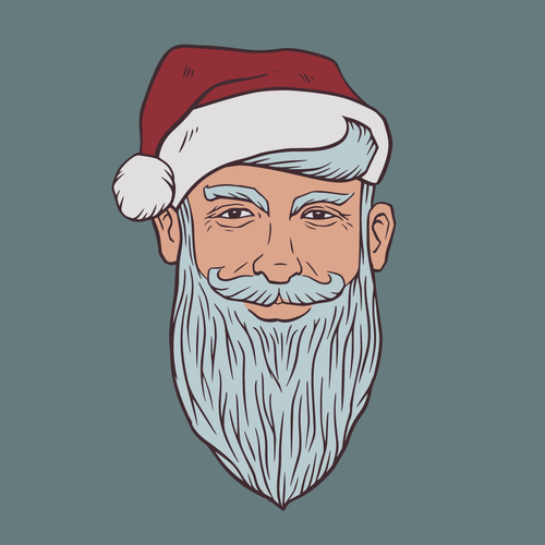 Santa design with the title 'Sly Santa'