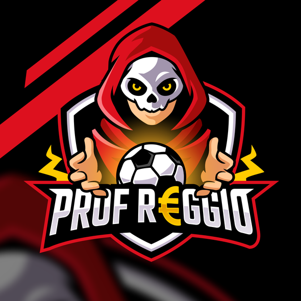 Football brand with the title 'Prof Reggio Soccer Football logo esport'