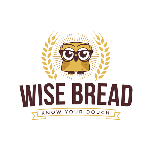 Nerd design with the title 'Logo concept for a bakery'