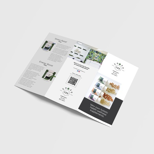 Natural design with the title 'nformational Brochure for new CBD Line'