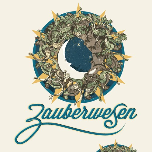 Moon design with the title 'Logo for Zauberwesen'