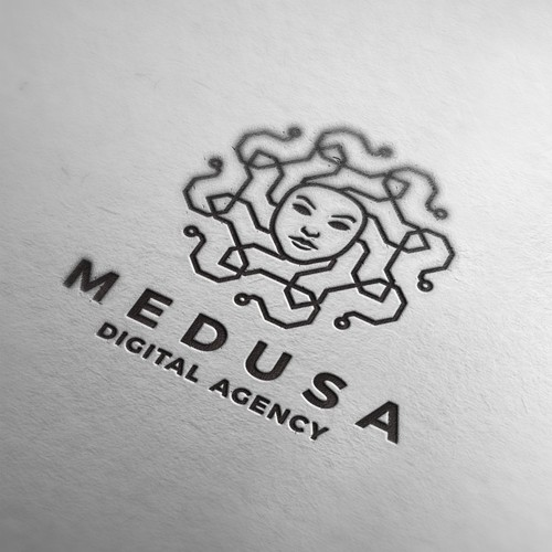 Line brand with the title 'medusa digital agency'