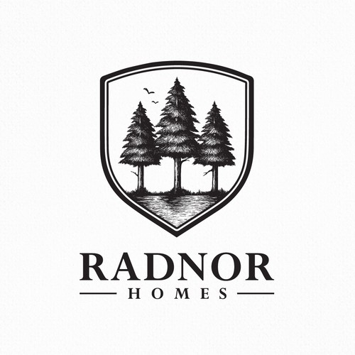 Pond logo with the title 'Radnor Homes'