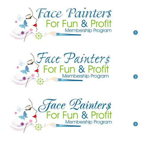 Blush logo with the title 'Face Painting Online Program Logo'