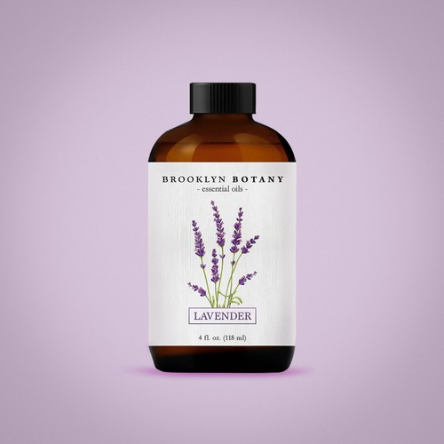 Classy label with the title 'Label concept for Essential Oil company'