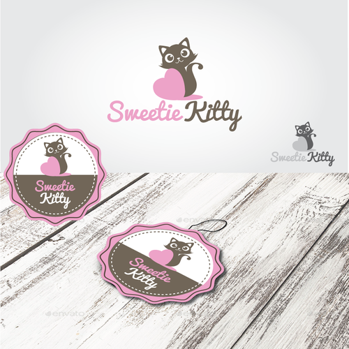 Kitten logo with the title 'Cat logo'