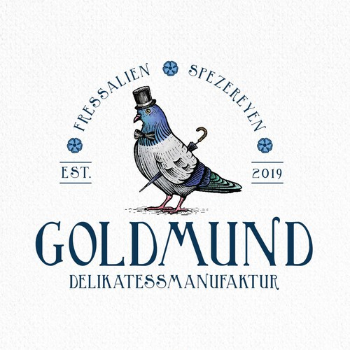 Hand-drawn logo with the title 'GoldMund'