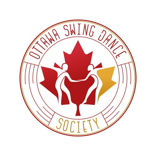 Maple leaf logo with the title 'Logo concept for Ottawa Swing Dance Society'