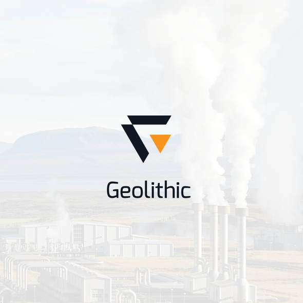 Renewable energy logo with the title 'Geolithic Geometric logo'