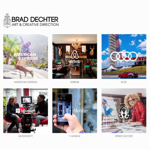 Portfolio website with the title 'Brand Dechter'