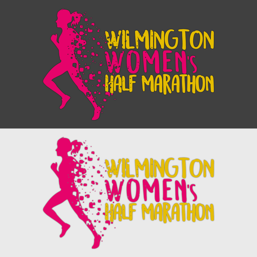 Marathon logo with the title 'Wilmington Women's Half Marathon'