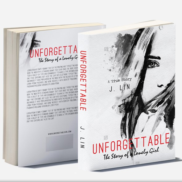 Story book cover with the title 'Unfprgettable'