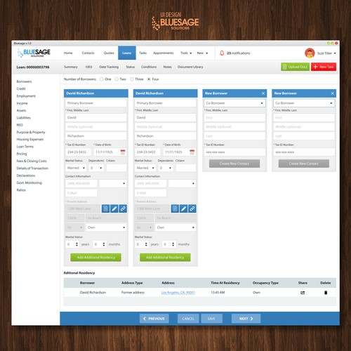 Desktop website with the title 'Desktop app UI design'