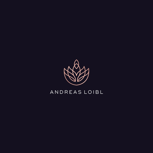 Lotus design with the title 'Andreas liobl'