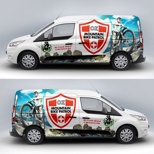 Car graphics design with the title 'Car Wrap'