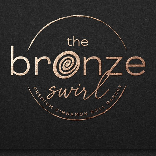 Hand-drawn logo with the title 'THE BRONZE SWIRL'