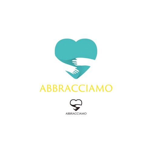 Parenting logo with the title 'Abbracciamo logo'