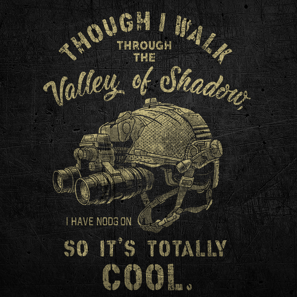 Soldier t-shirt with the title 'VALLEY OF SHADOW'