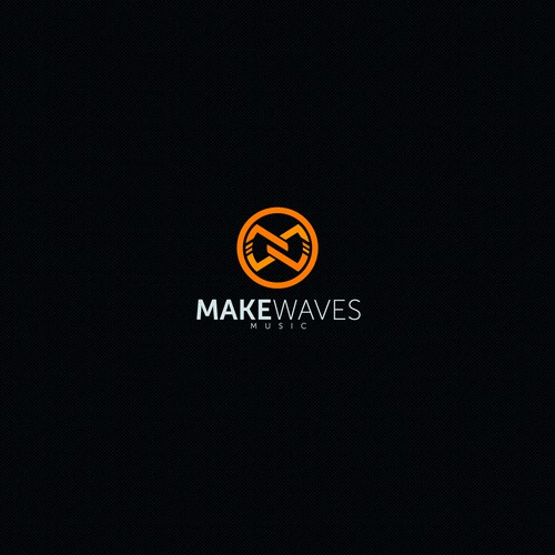 Music production logo with the title 'MAKE WAVES, AN INNOVATIVE ONLINE BASED MUSIC SCHOOL/RECORD LABEL.'