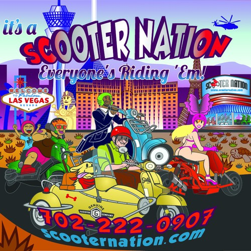 Scooter design with the title 'Scooter Nation'