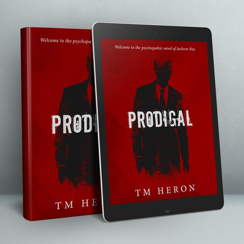 Novel design with the title 'Book Cover Design for Thriller Novel'