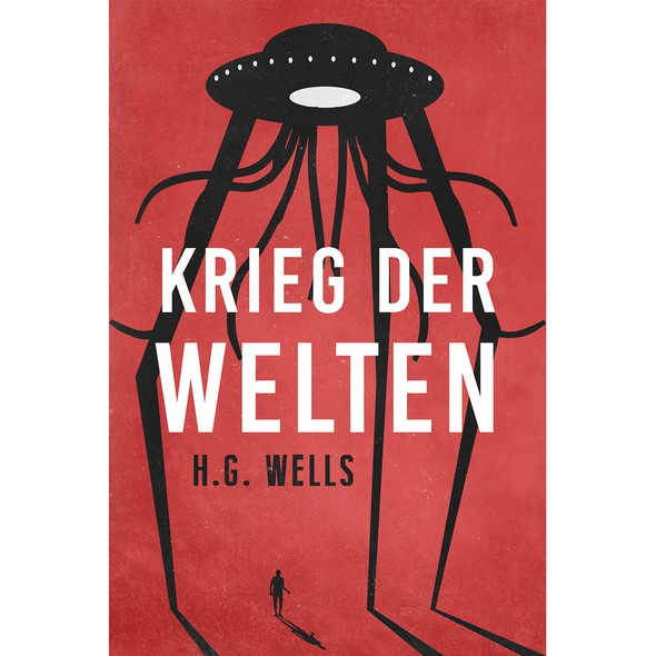 Alien book cover with the title ''War of the worlds' book cover'