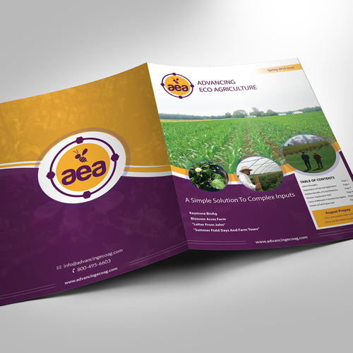 Effective design with the title 'Cover for agricultural newsletter'
