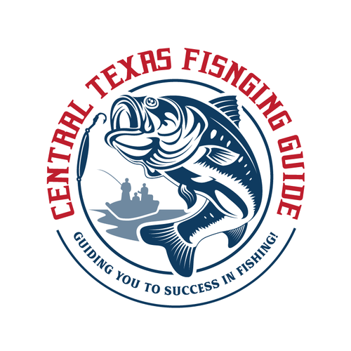 Fish logo with the title 'Logo design for fishing guide'