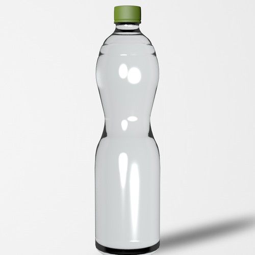 Glass packaging with the title '3D bottle'