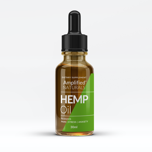Hemp packaging with the title 'looking for a minimal and attractive bottle package for a health supplement'