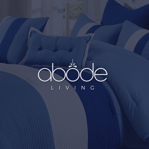 "Living logo with the title 'Simple and sophisticated logo concept for ""Abode Living""'"
