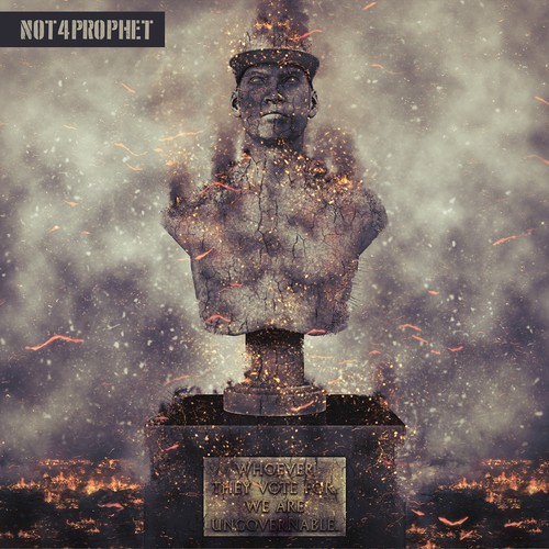 Revolution design with the title 'Not4Prophet Album Cover'