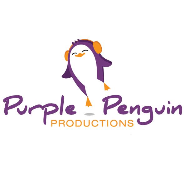 Arctic design with the title 'Purple Penguin logo'