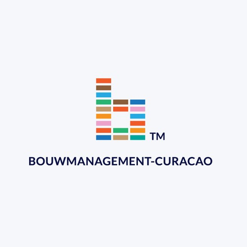 Brick design with the title 'Brand Identity for Construction Management Company'