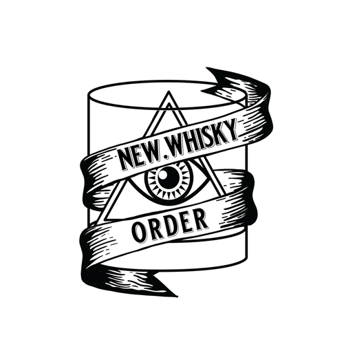 Third eye logo with the title 'New.Whiskyorder Logo Design'