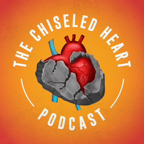 Vintage artwork with the title 'The Chisel Heart'