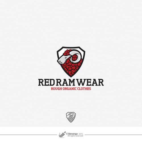 Clothing logo with the title 'RedRamWear'