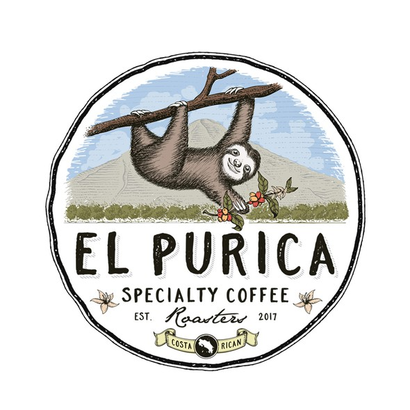 Costa Rica design with the title 'El purica coffee roasters'