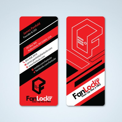 Help FanLockr with a new business card