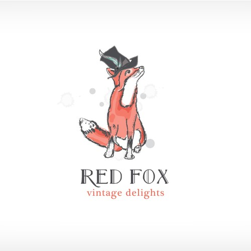 Bespoke design with the title 'Hand-Drawn Whimsical Fox Logo for Vintage Food Company'