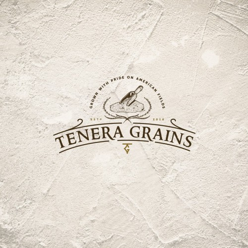 Paper logo with the title 'Tenera grains logo'