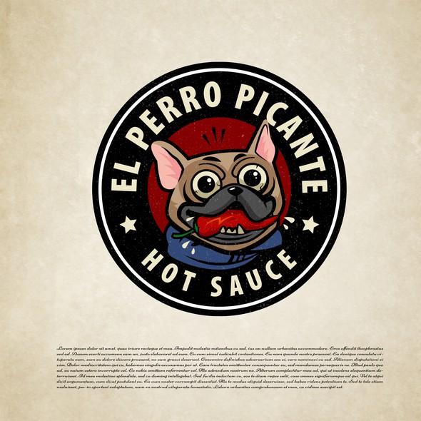 Puppy design with the title 'El perro picante'