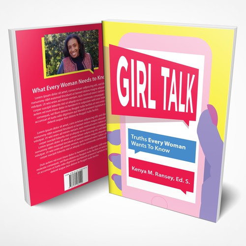 Girly book cover with the title 'Girl Talk'