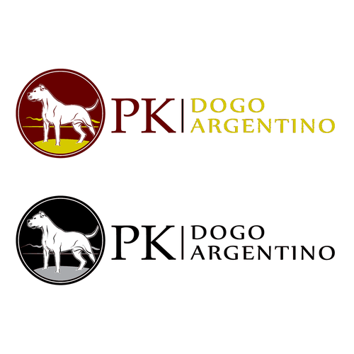 Kennel design with the title 'PK - Dogo Argentino'