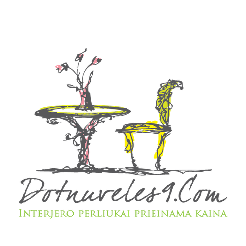 Boutique logo with the title 'whimsical artist furniture store'