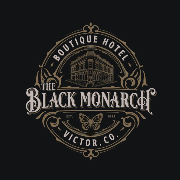 Butterfly brand with the title 'Black Monarch Hotel'