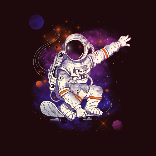 Astronaut design with the title 'Space Journey'