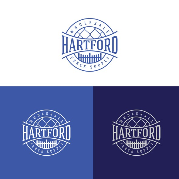 Fencing logo with the title 'Hartford Fence Supply'